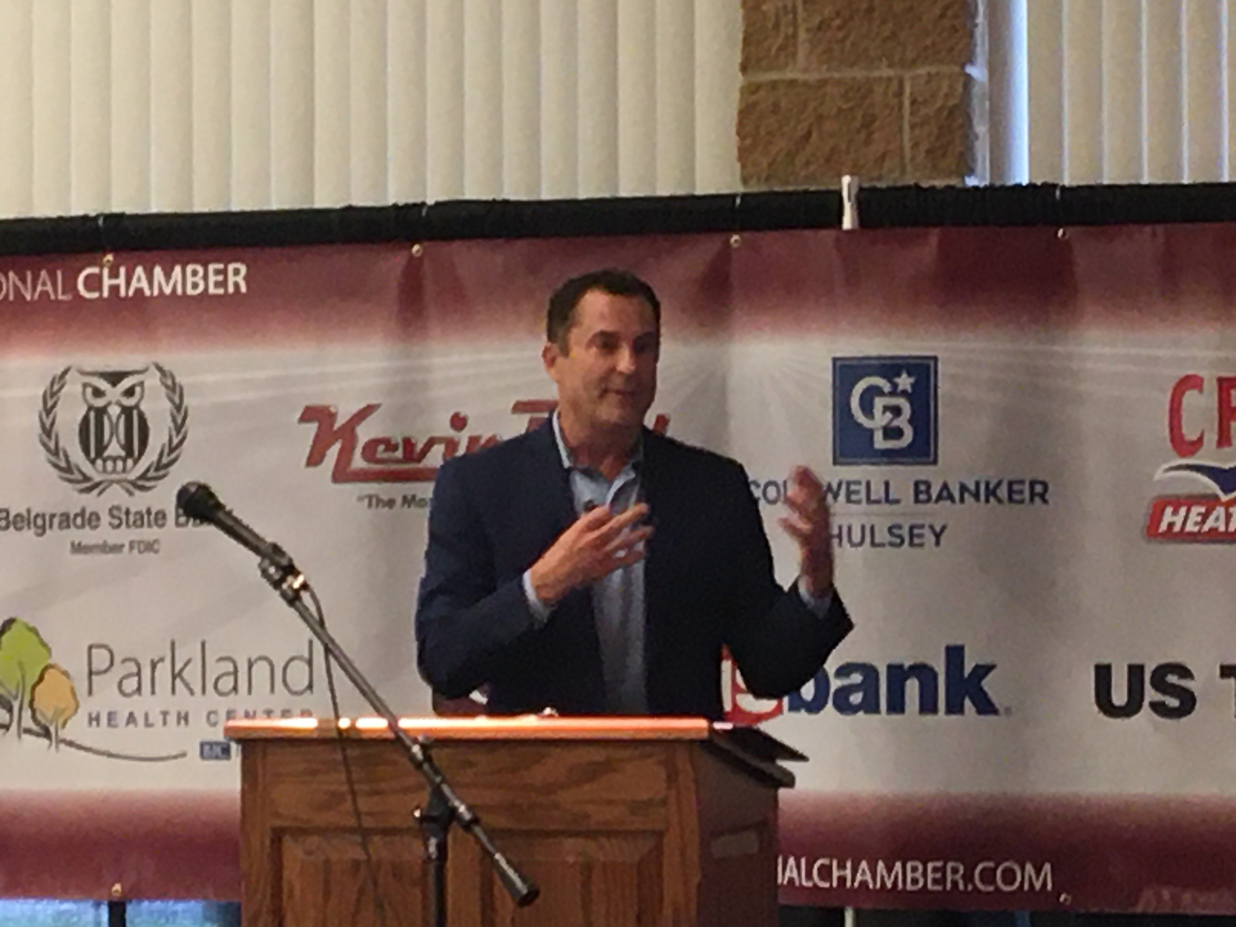 Reporter Author John Brown Visits Chamber