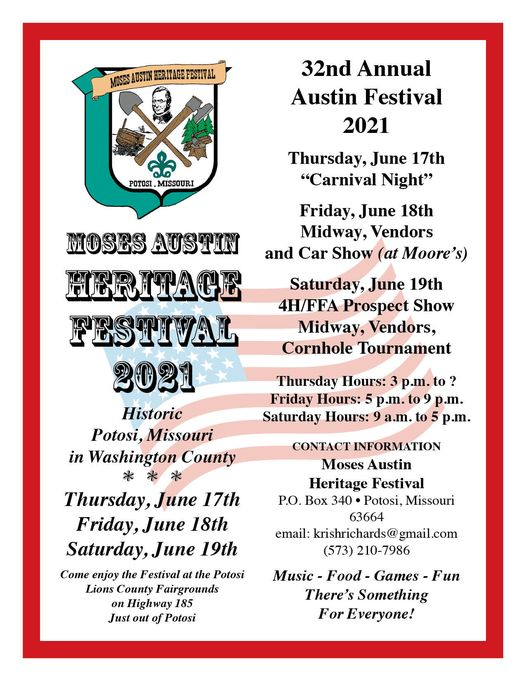 The Moses Austin Heritage Festival This Weekend